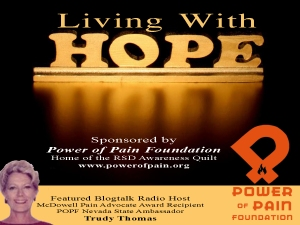 Living with HOPE Radio Show with Host Trudy Thomas Logo