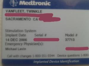 Twinkle VanFleet Medtronic ID Card