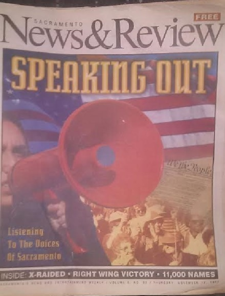 SacramentoNews&Review November 17 1994 Speaking Out Cover Twinkle VanFleet