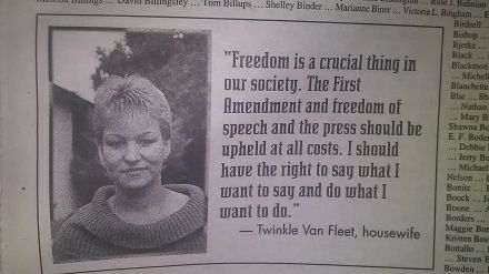 SacramentoNews&Review November 17 1994 Twinkle VanFleet Profile Page 28 Speaking Out Edition