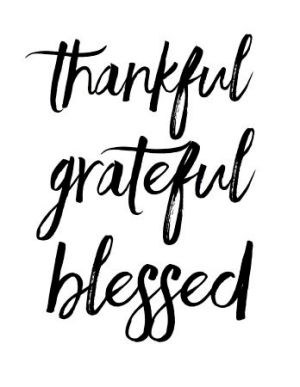 thankful- grateful- blessed