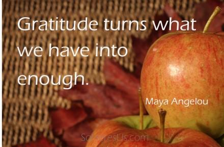 Gratitude- Maya Angelou